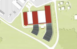 Plan showing the site and the extension