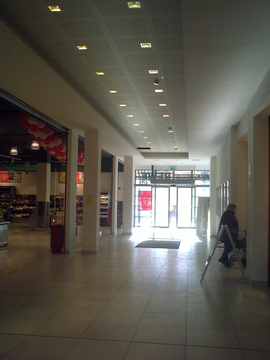 Shopping passage, REWE Supermarket