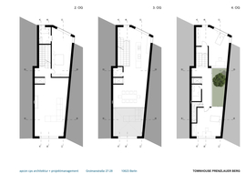 Plans of two to fourth floors